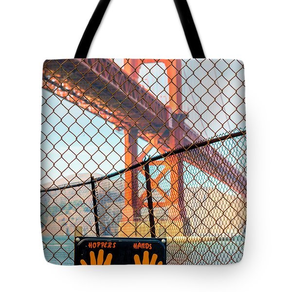 Hoppers Hands Tote Bag by Jerry Fornarotto