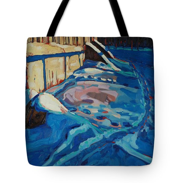 Hopping Down The Bunny Highway Tote Bag by Phil Chadwick