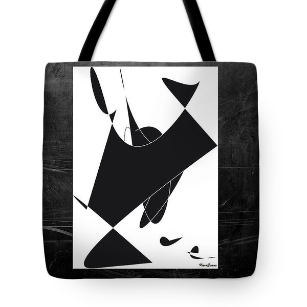 Tote Bag featuring the digital art Hopposites by Karo Evans