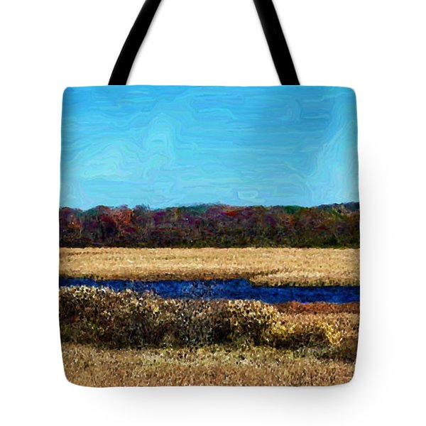 Horicon Marsh - Digital Oil Tote Bag