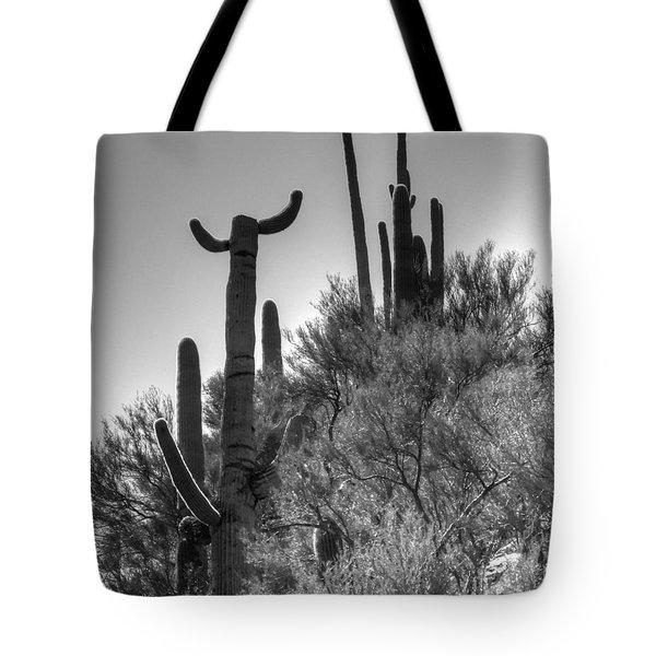 Horn Saguaro Cactus Tote Bag