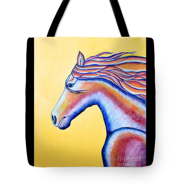 Tote Bag featuring the painting Horse 1 by Joseph J Stevens