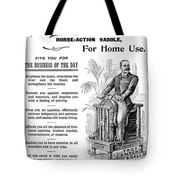 Horse-action Saddle, 1895 Tote Bag