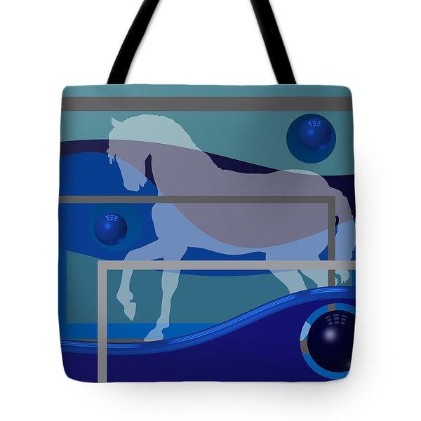 Horse And Blue Balls Tote Bag