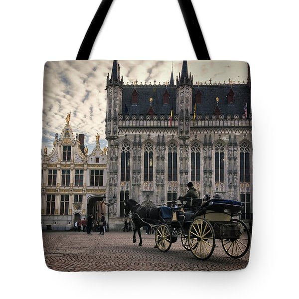Horse And Carriage Tote Bag