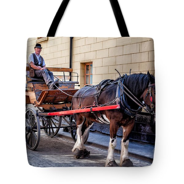 Horse And Cart Tote Bag