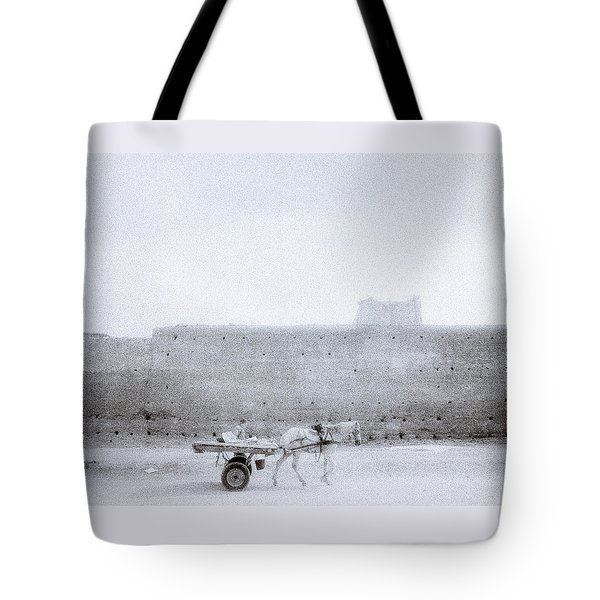 Horse And Cart Tote Bag by Shaun Higson