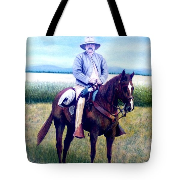 Horse And Rider Tote Bag by Stacy C Bottoms