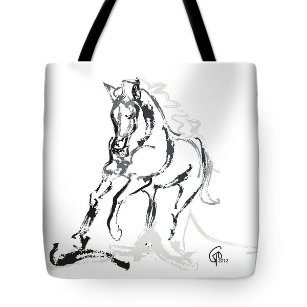 Horse- Andalusian Angel Tote Bag by Go Van Kampen