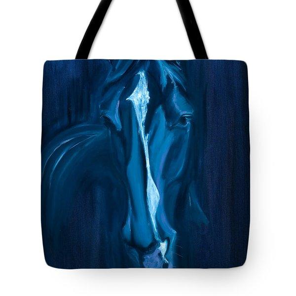 horse - Apple indigo Tote Bag