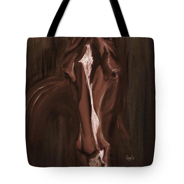 Horse Apple Warm Brown Tote Bag