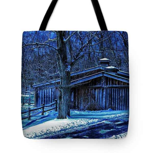 Horse Barn Tote Bag by Skip Tribby