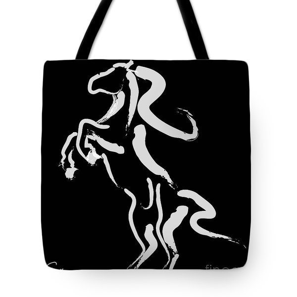 Horse -black And White Beauty Tote Bag