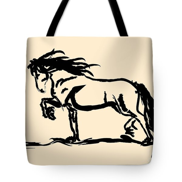 Horse - Blacky Tote Bag