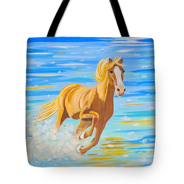 Tote Bag featuring the painting Horse Bright by Phyllis Kaltenbach