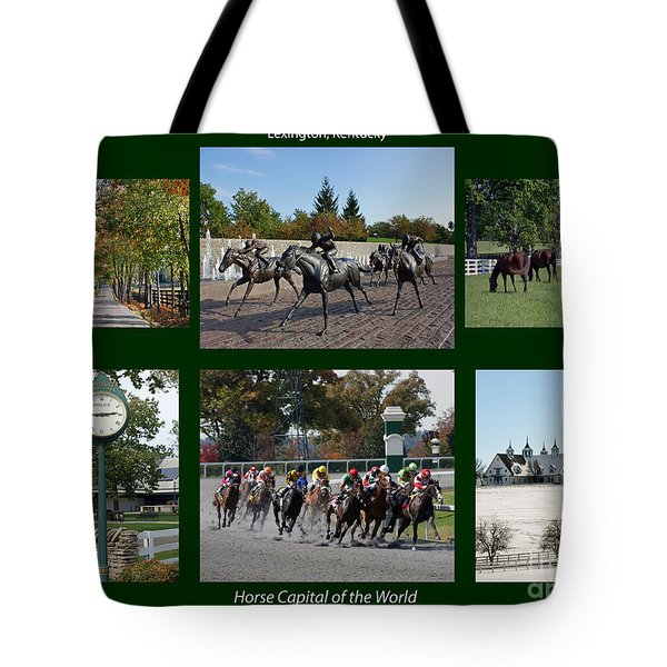 Horse Capital Of The World Tote Bag by Roger Potts