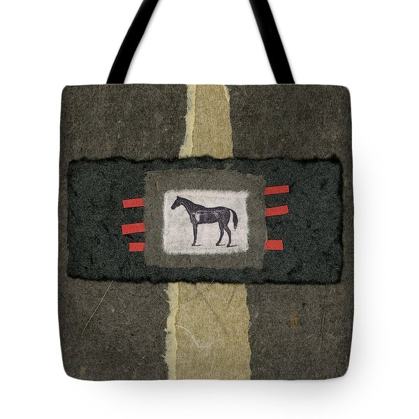 Horse Collage Tote Bag