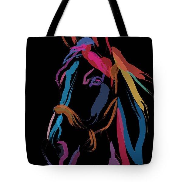 Horse-colour Me Beautiful Tote Bag by Go Van Kampen