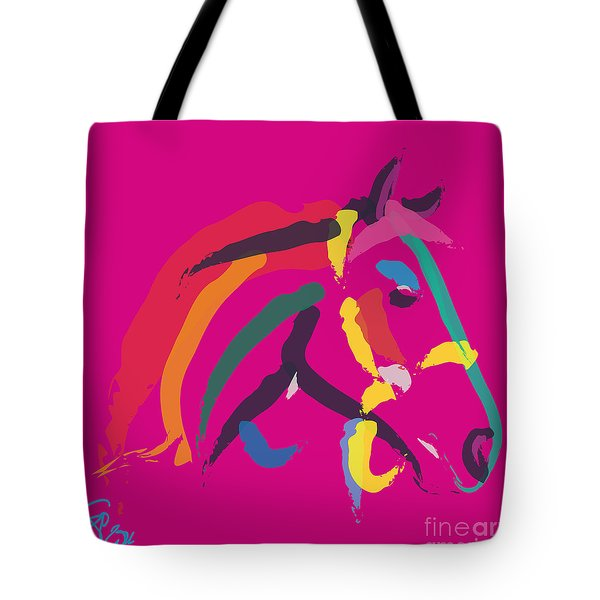 Horse - Colour Me Strong Tote Bag