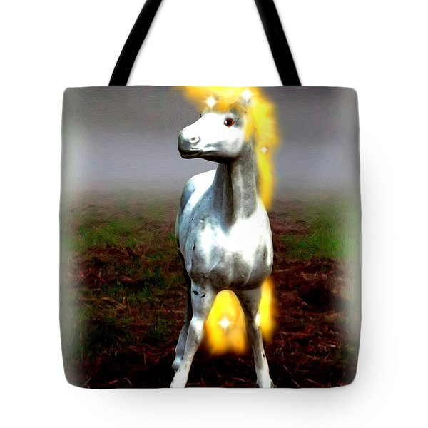 Tote Bag featuring the digital art Horse by Daniel Janda