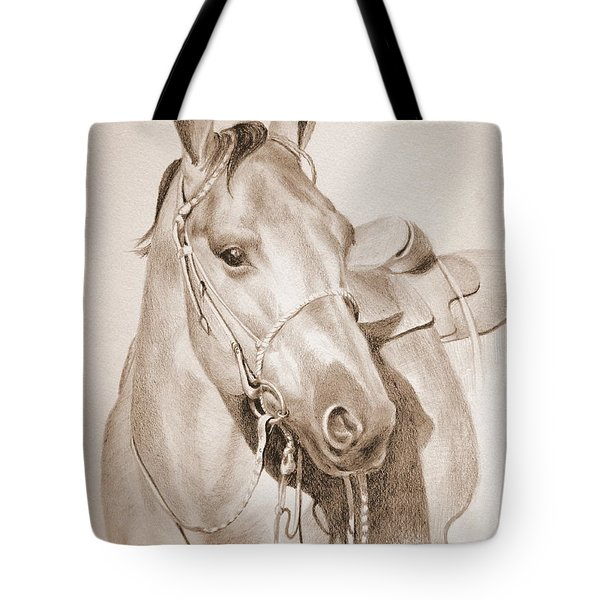 Horse Drawing Tote Bag by Eleonora Perlic