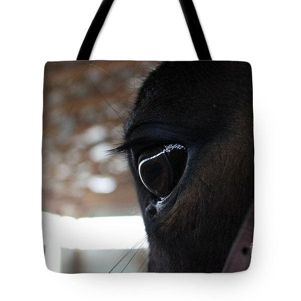 Horse Eye From Behind Tote Bag