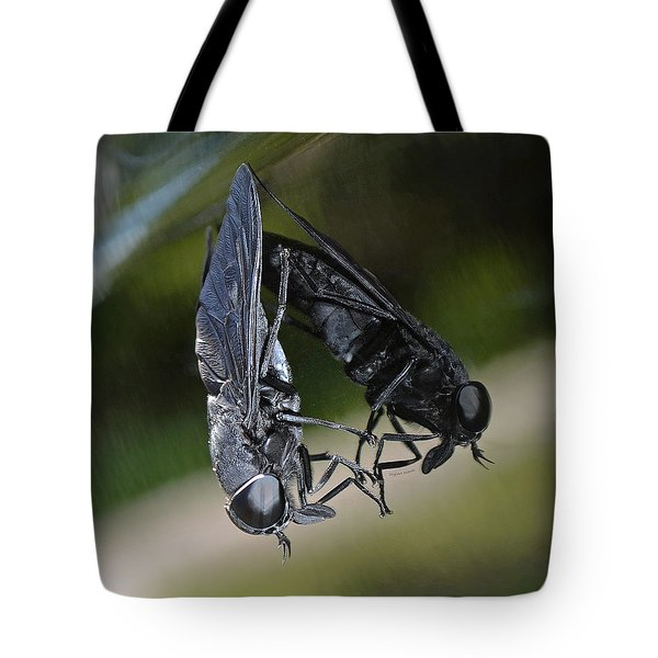 Tote Bag featuring the photograph Horse Fly by DigiArt Diaries by Vicky B Fuller