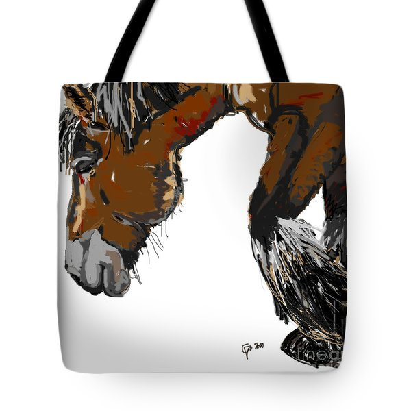 Tote Bag featuring the painting horse - Guus by Go Van Kampen