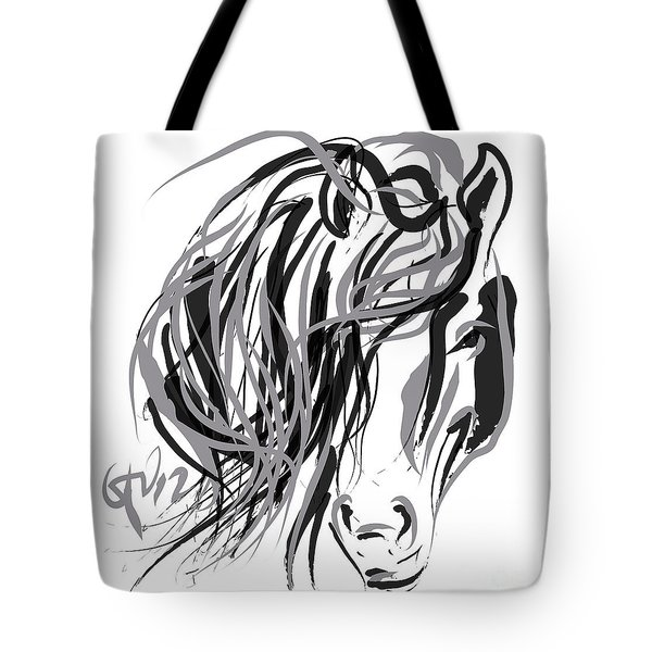 Horse- Hair And Horse Tote Bag