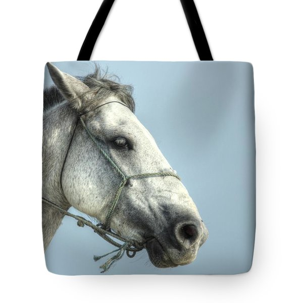 Tote Bag featuring the photograph Horse Head-shot by Eti Reid