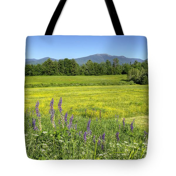 Horse In Buttercup Field Tote Bag