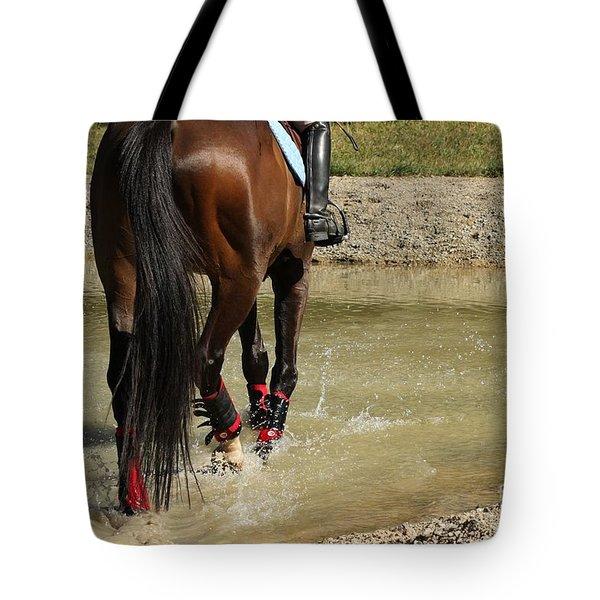 Horse In Water Tote Bag