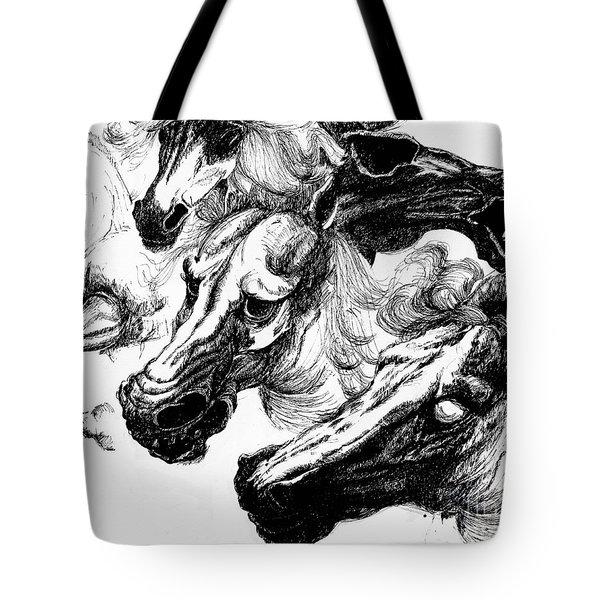 Horse Ink Drawing  Tote Bag