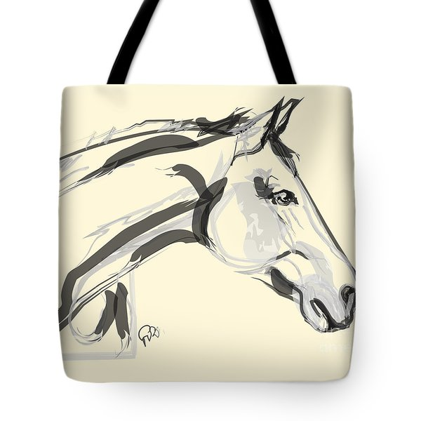 Tote Bag featuring the painting Horse - Lovely by Go Van Kampen