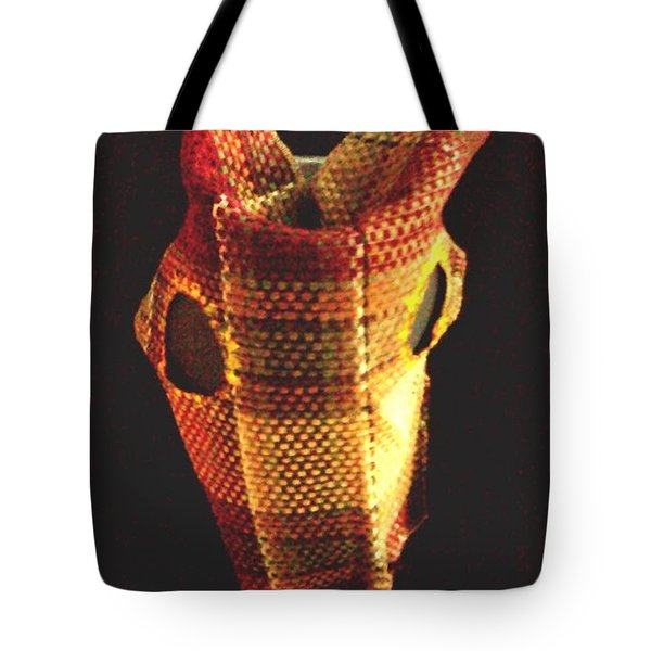 Native American Horse Mask Tote Bag by Stacy C Bottoms
