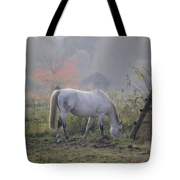 Horse On A Peaceful Day Tote Bag