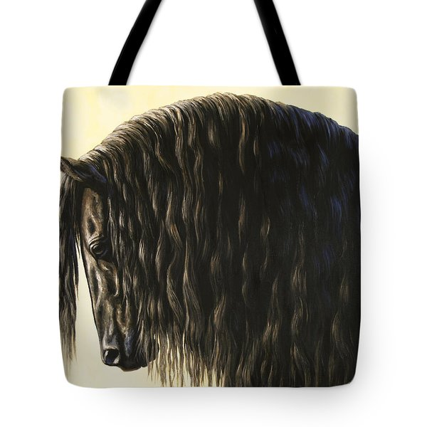 Horse Painting - Friesland Nobility Tote Bag