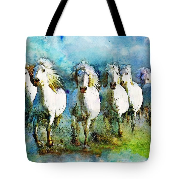 Horse Paintings 005 Tote Bag by Catf