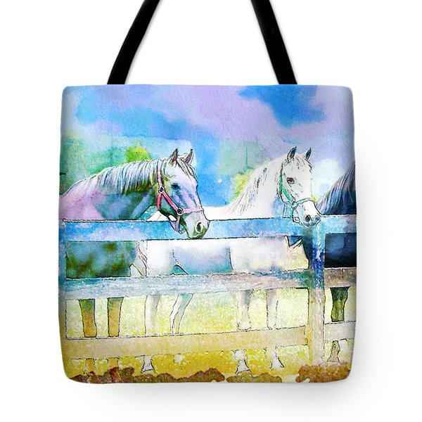 Horse Paintings 008 Tote Bag by Catf