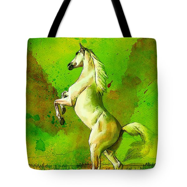 Horse Paintings 010 Tote Bag by Catf
