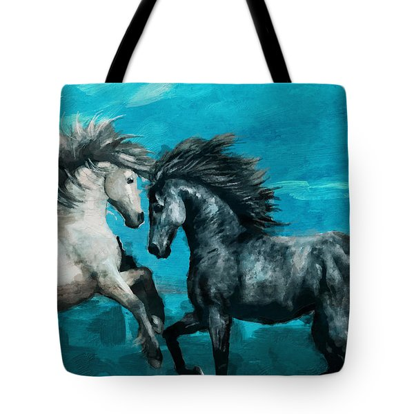 Horse Paintings 011 Tote Bag by Catf
