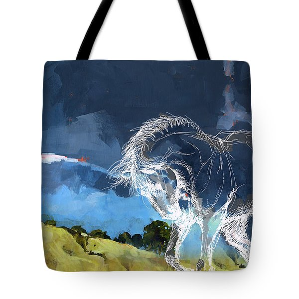Horse Paintings 012 Tote Bag by Catf