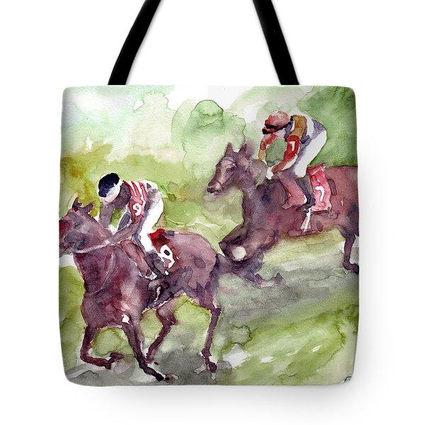 Horse Racing Tote Bag by Faruk Koksal