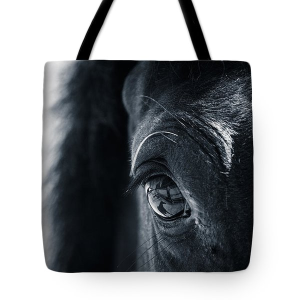 Horse Reflection Tote Bag by Michele Wright