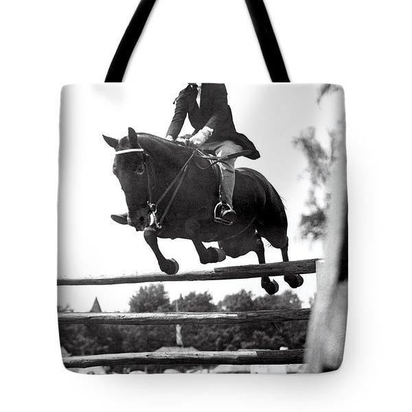Horse Show Jump Tote Bag
