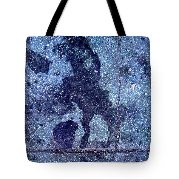 Horse Smashing Evil On Skid Row Tote Bag