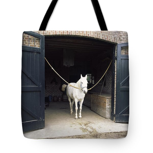 Horse Standing In A Stable, Middleton Tote Bag