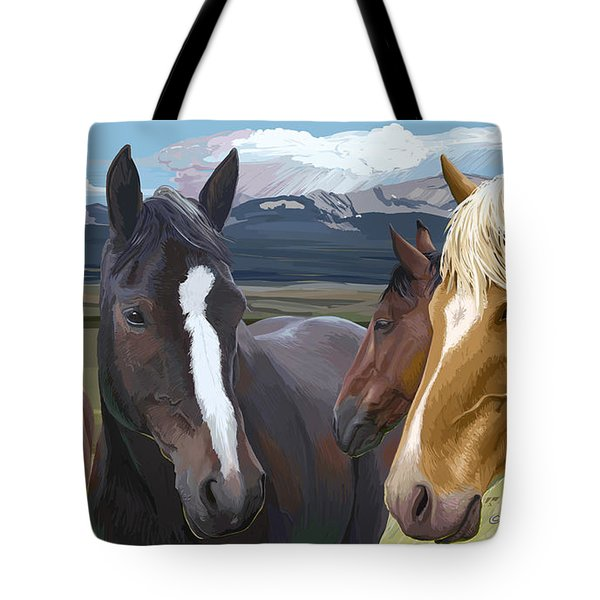 Horse Talk Tote Bag