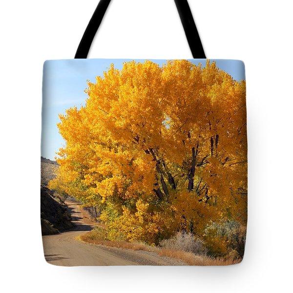 Horse Thief Canyon Gold Tote Bag by Bob Hislop