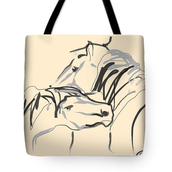 Horse - Together 4 Tote Bag